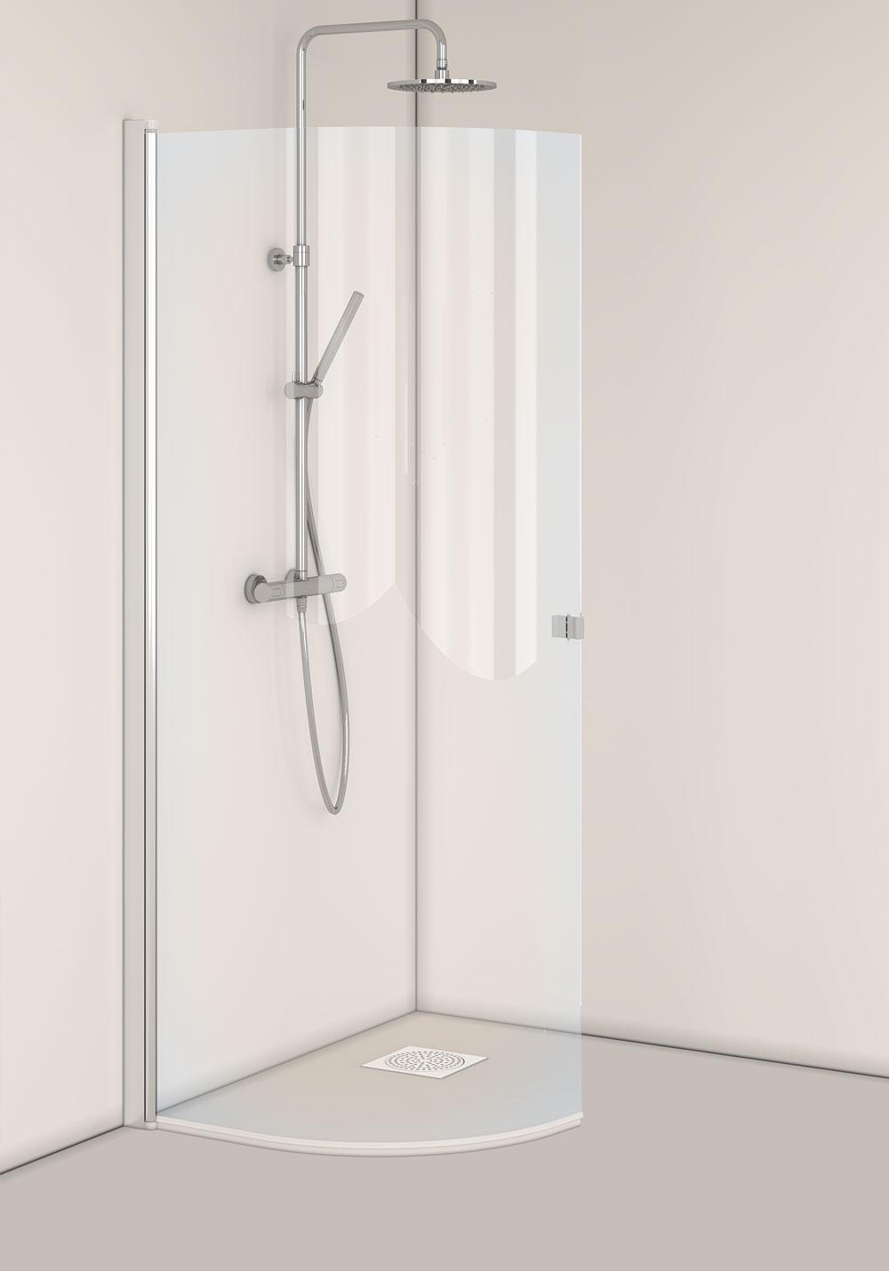 Hafa Igloo Pro J-Door 80 Klarglas Naturprofil i gruppen Badrum / Duschlösning / Duschdörr hos Stuvbutiken (1450350)