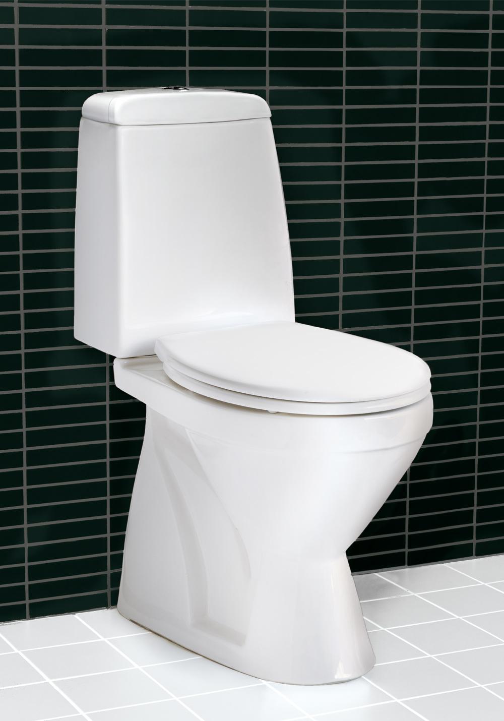 Floor toalett 430 m lock vitt soft close   hafa badrum
