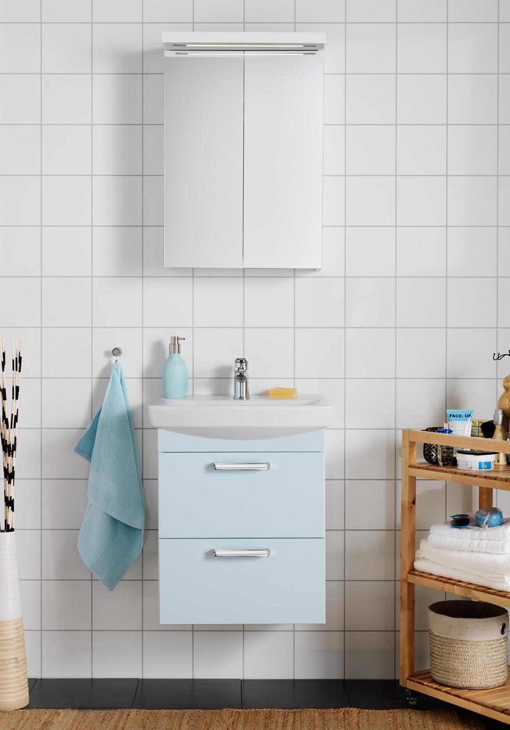 LIFE 500 KOMPL M SPEGELSKÅP VIT - Hafa badrum