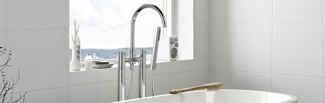 Inredning tvättställsblandare med dusch : Byt blandare. Moderna designblandare frÃ¥n Hafa. - Hafa badrum