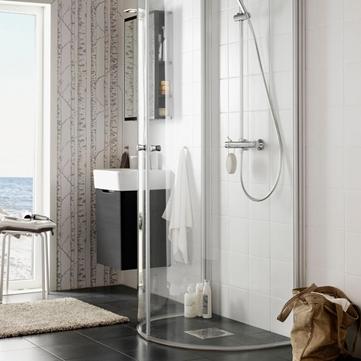 Inredning duschdörrar rak vägg : Duschar - Hafa badrum
