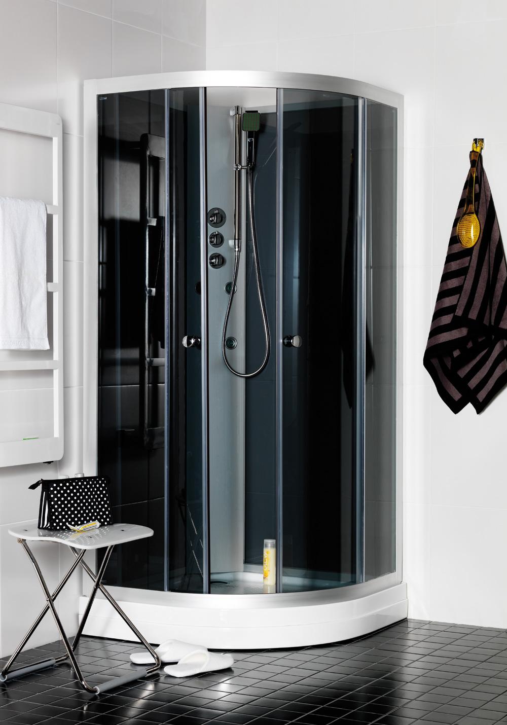 polaris massagekabin 90x90 r klarglas hafa badrum. Black Bedroom Furniture Sets. Home Design Ideas
