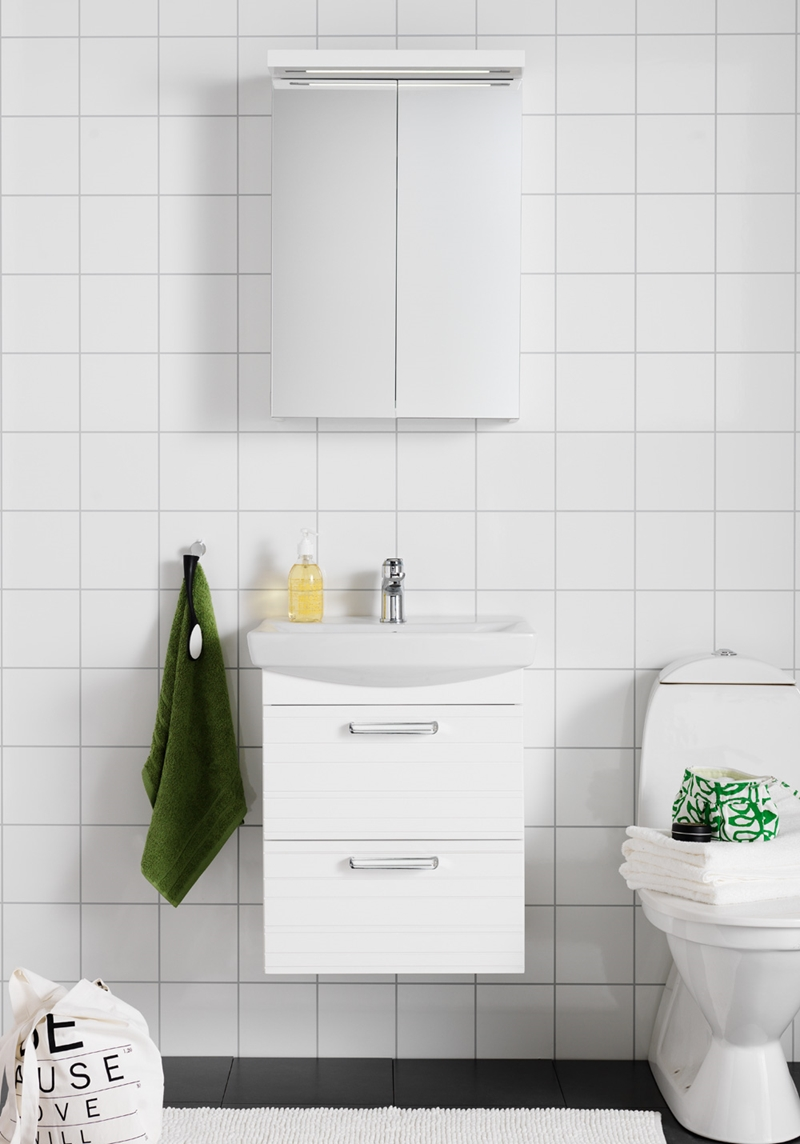 Grått badrumsskåp ~ xellen.com