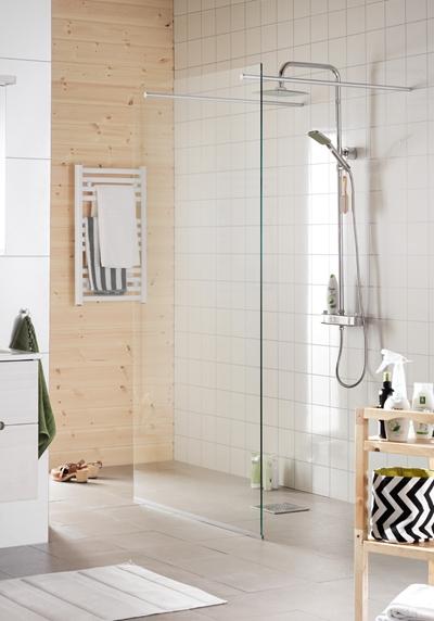 Byt duschvägg Funktionella duschlösningar från Hafa Hafa badrum