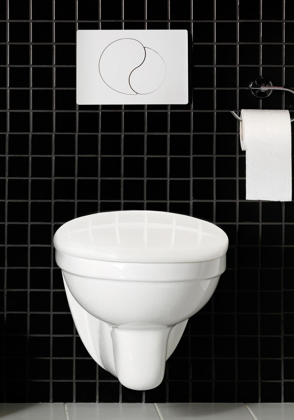 Byt toalett. sanitetsporslin med easyclean   hafa badrum