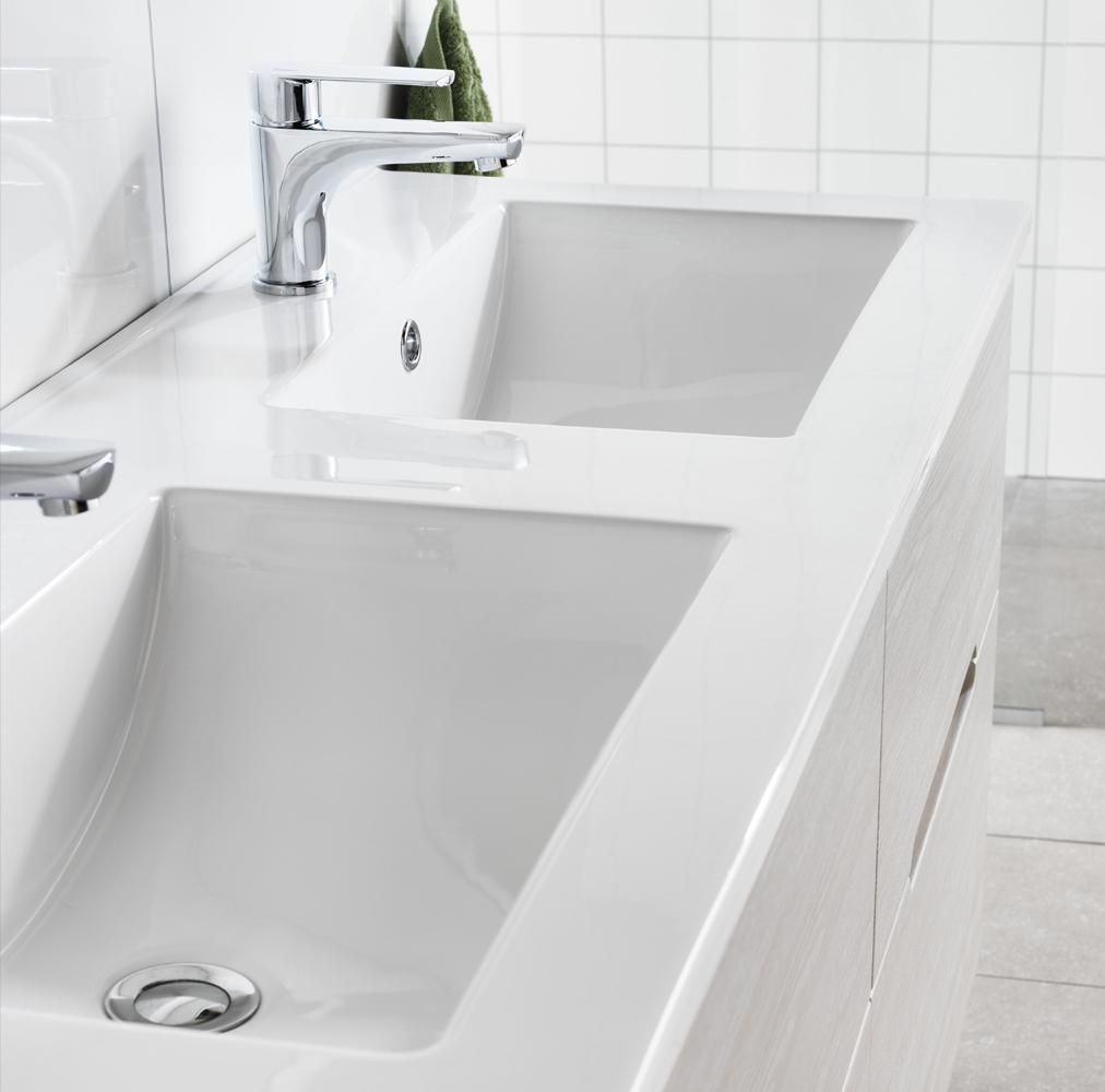 Inredning tvättställ med pelare : Handfat - Hafa badrum